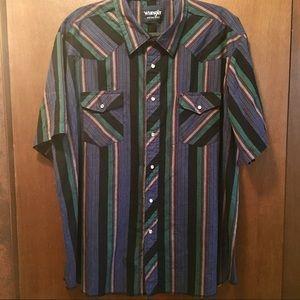 Wrangler Western Button-down Shirt EUC sz XXL